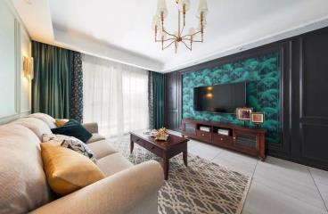 92㎡优雅美式2室2厅 精致而灵动的生活格调