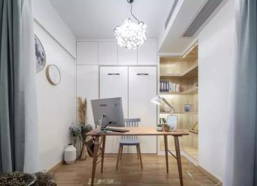 97㎡北欧风格装修,客餐厅、书房全打通好宽敞!
