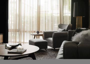 330㎡别墅黑、白、灰中性色定调空间