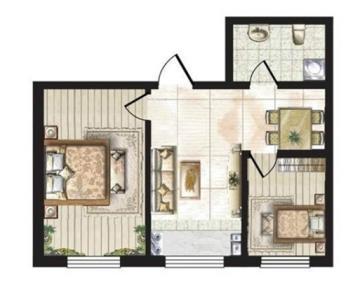 混搭一居室装修案例