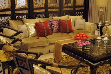 中式装修一居室设计效果图