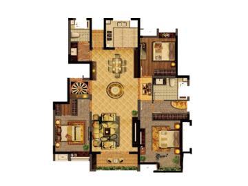 北欧牧风三室两厅设计图赏
