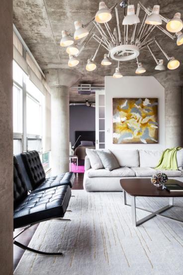 即复古又现代的时尚loft公寓