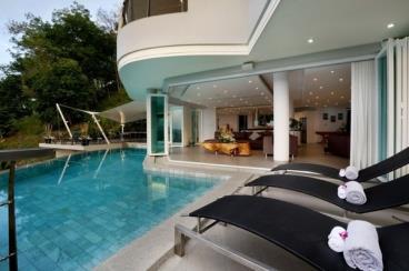 奢侈华丽 泳池别墅的奢华效果图