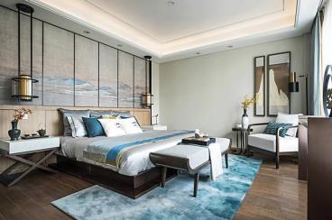 干练的线条和明亮的色彩打造出儒雅新中式