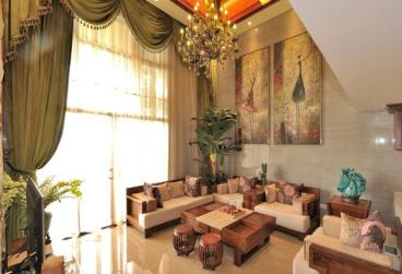 东南亚风格复式楼住宅装修效果图欣赏