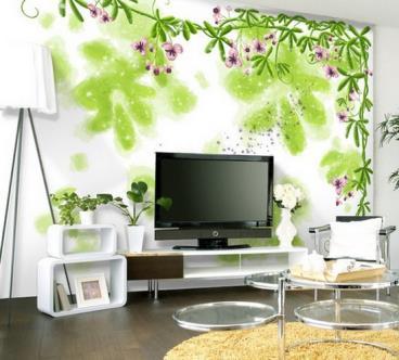田园风格客厅背景墙赏析 天然的回归