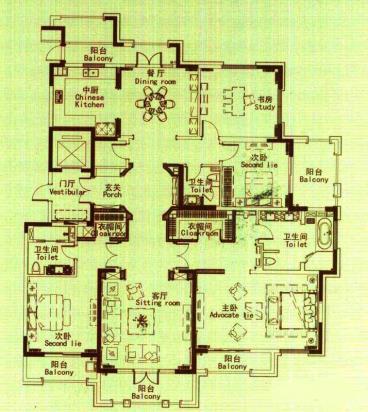 紫金城-欧美风情-四居室-装修案例