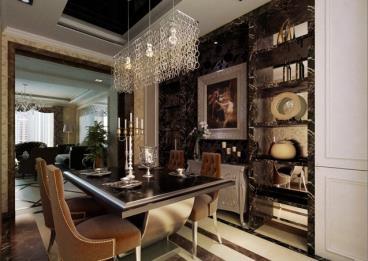 高贵而沉稳的色调 新古典餐厅装修