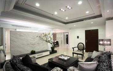 新古典四居室客厅装修效果图