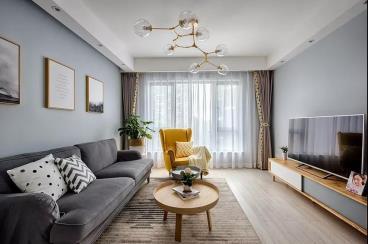 85㎡北欧风格三居室