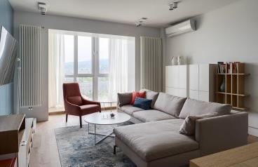 98㎡现代风格二居室
