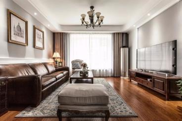 130㎡现代美式四居室