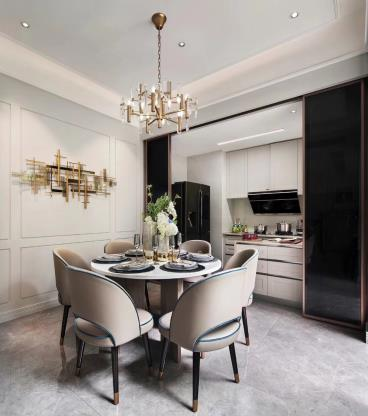 现代新中式轻奢四室装修案例