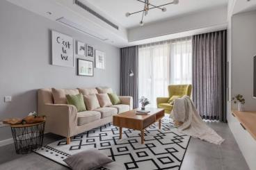 90㎡清新北欧2室 打造柔和舒适的气质美家
