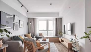 89m2北欧风格装修,最爱客厅的大飘窗好悠闲!