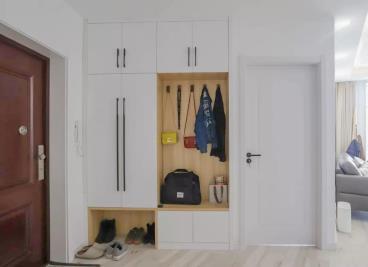 91㎡两室一厅,开放式厨房铺地板做石膏吊顶,更美了